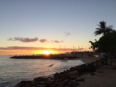Just Drake's View : The September Sunset in Hawaii. Ala Wai Boat Harbor - Oahu