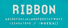 RIBBON font, designed by Dan Gneiding found on Lost Type Co-op Best Free Fonts, Great Fonts, Cool Fonts, New Fonts, Awesome Fonts, Funky Fonts, Sans Serif Fonts, Typography Fonts, Typography Design