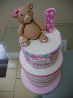 Olivia's 1st Birthday Cake #cake #birthday #firstbirthday