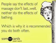 Get massages regularly!