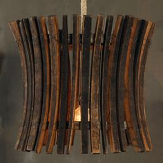 Wine Barrel Stick Chandelier