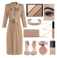 """""""We're stars and we're beautiful."""" by nafisarahman ❤ liked on Polyvore featuring Stuart Weitzman, Yves Saint Laurent, Jennifer Zeuner, Elizabeth Arden, Bobbi Brown Cosmetics, Burberry, NARS Cosmetics and Topshop"""
