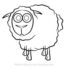 Sheep drawing=funny cartoons