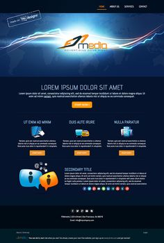 Logo and website design concept for media business by designer AS-ideas. – Jimdo template: Miami – Visit their full site here: http://fdmmedia.jimdo.com/