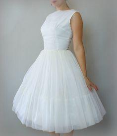 Vintage 1960s Formal Dress - White Chiffon Turquoise Velvet Bolero Wedding Prom Formal Bridesmaid Dress