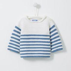 Pull Garçon Love Maille - My site Baby Sweater Patterns, Baby Cardigan Knitting Pattern, Knit Baby Sweaters, Baby Knitting Patterns, Knitting Designs, Baby Patterns, Baby Pullover Muster, Knitting For Kids, Baby Dress