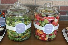 What a great way to serve salad at a BBQ, no bug/fly problems! Place in a bowl or pan of ice to keep things cool.
