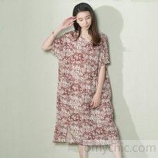 a79dfb7227b Top quality gray long sleeve linen dresses plus size fall maternity dresses