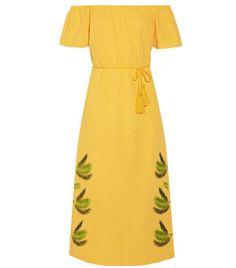 Best Off-the-Shoulder Dresses: Sensi Studio Off-the-shoulder embroidered cotton midi dress