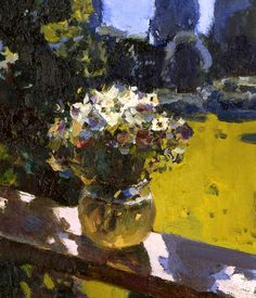 ❀ Blooming Brushwork ❀ - garden and still life flower paintings - Yuri Konstantinov - Morning in the Garden