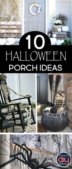Decorating your porch for the haunting holiday can be a great way to share your festive spirit. Here are 10 great seasonal porch décor ideas!