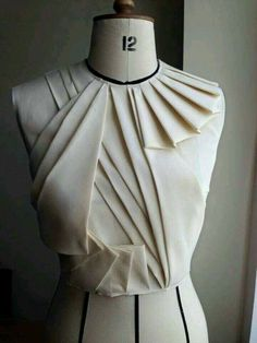 Moda Origami De Bricolaje Escultorica Manipulacion Tela Drapeado Arte Para Vestirse Rosa Diseno Buscando