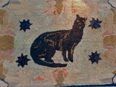 Late 19th C Hooked Rug