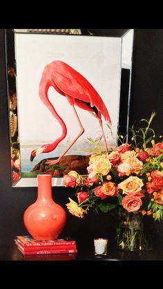 Flamingo print/ soft pink Eichholtz