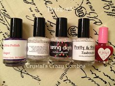 Crystal's Crazy Combos: Fantasy Fire/Ringer and White Glitter Giveaway!