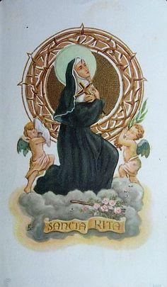 Catholic Art, Catholic Saints, Roman Catholic, Sta Rita, St Rita Of Cascia, Novena Prayers, Religious Pictures, Goth Style, Ikon
