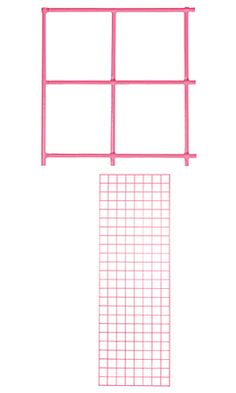 2 x 6 foot Hot Pink Wire Grid Panel