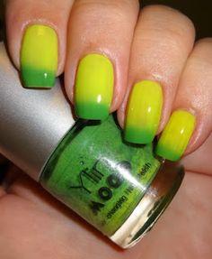 Wendy's Delights: Born Pretty Store Colour Changing Nail Polish - Yellow & Green @BornPrettyStoreDaisy @BornPrettyStore  FREE SHIPPING & 10% DISCOUNT CODE HXBQ10