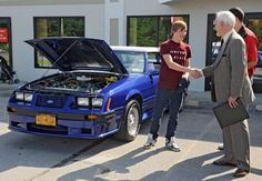 Make-A-Wish fulfills teen's dream: Charity helps boy with cystic fibrosis restore '83 Mustang