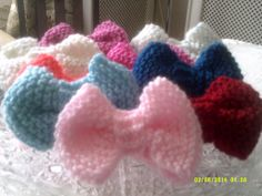 Hand Knitted Bow Photo:  This Photo was uploaded by thepinupboutique. ...