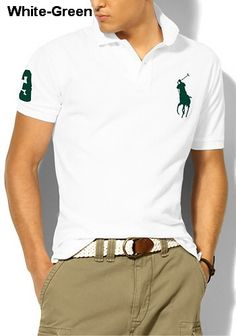 ff93a19bf8dc Polo Ralph Lauren Men s Shirt White with Navy Pony (M)