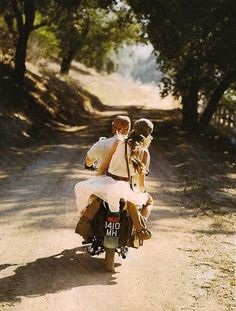 to be on a motorbike with my love and to travel where ever we want. Good way to beat the winter blues.