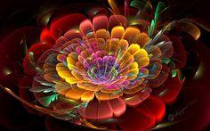 """Rainbow Bloom"" by wolfepaw"