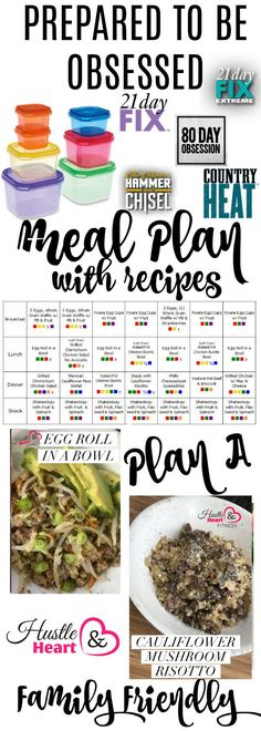 Countdown to 80 Day Obsession - Portion Fix Meal Plan with Recipe