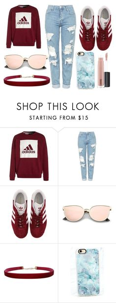 """❤❤"" by thisisalle on Polyvore featuring adidas, Topshop, Humble Chic, Casetify and MAC Cosmetics"