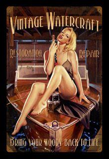 Woody - Vintage Tin Sign, Greg Hildebrandt