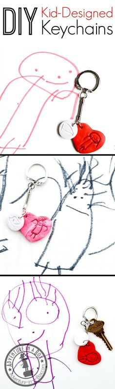 Idee Cadeau Fete Des Peres 2019 - DIY Kid-Designed Keychains: Make personalized keychains with family portraits fr. Mother's Day Activities, Creative Activities For Kids, Creative Arts And Crafts, Creative Kids, Creative Mother's Day Gifts, Diy Gifts For Kids, Crafts For Kids To Make, Kids Crafts, Valentine Crafts For Kids