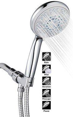 American 5 Gear Multifunction Hanging Shower Head Nozzle Abs Water Saving Massage Fog Sprinklers Hotel Bathroom Special Summer Sale Home Improvement