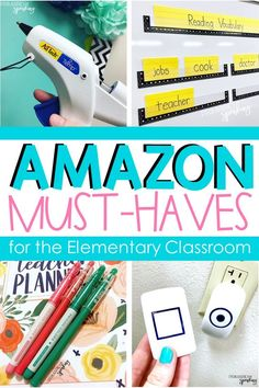 Amazon Must-Haves for the Elementary Classroom | Teacher supplies, Teacher must haves, 2nd grade cla