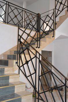 Balustrada wewn�trzna, stal czarna lakierowana � O�ar�w Mazowiecki