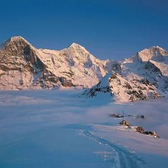 Eiger, Monch, and Jungfrau - the Swiss Alps! Berner Oberland