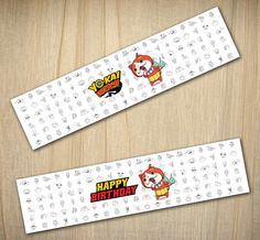 Yo-kai Watch Printable Water Bottle Labels INSTANT by NonkiDesigns