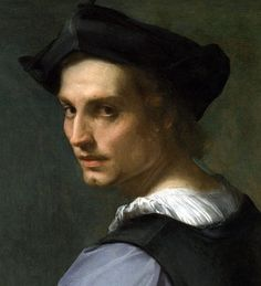 Andrea del Sarto - The so-called Portrait of a Sculptor, long believed to have been Del Sarto's self-portrait. Potrait Painting, Portrait Art, Painting & Drawing, High Renaissance, Renaissance Clothing, Del Conte, Renaissance Portraits, Landsknecht, Art Addiction
