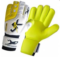 J4K - Fifty 50 (J4K is one of just a few GK brands that stock yellow palm gloves)  Hybrid - (Index and little finger are Roll Finger and two middle fingers are flat palm, the palm is 50-50)  4MM Super Soft Yellow Palm  Super strength bandage Wrist support  Special mesh design, to allow hand to breath  Extra latex materials for padding and comfort for back hand