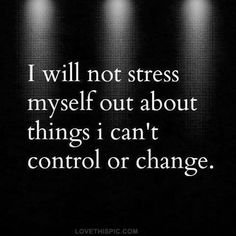 I will not.....
