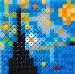 Vincent Van Gogh's Starry Night Hama Perler Beads