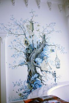 роспись стен графика - Поиск в Google Mural Painting, Mural Art, Wall Murals, Paintings, Balinese Decor, Cool Wall Art, Murals Street Art, Wall Drawing, Chalk Art