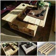Wie kann man Tisch aus Paletten selber bauen