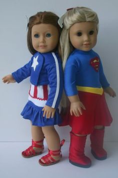 Supergirl and Captain America Collection to Fit Your 18 in American Girl Doll | eBay. All proceeds go to a worthy cause---helping veterans and their families!!