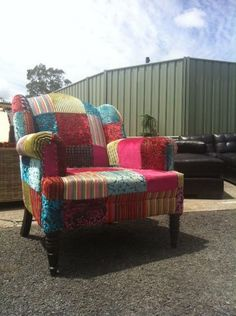 Patchwork covered chair,  ACT Australia