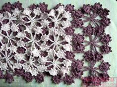 snowflake scarf : photo tutorial
