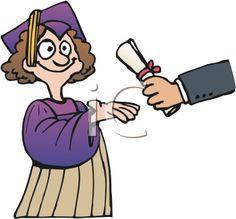 iCLIPART - a Graduate Receiving a Diploma