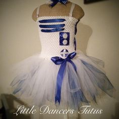 R2D2 Inspired Flower Girl Wedding Tutu Dress from Star Wars by LDTutus LittleDancersTutus