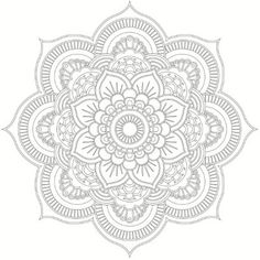 I'm sure you've all seen incredible mandala designs before, but are you actually aware of the meaning and history behind these complex works of art? The word mandala comes from the classical Indian language, Sanskrit, Mandalas Drawing, Mandala Coloring Pages, Coloring Pages To Print, Coloring Book Pages, Zentangles, Coloring Sheets, Rosen Tattoo Arm, Mandala Stencils, Printable Adult Coloring Pages