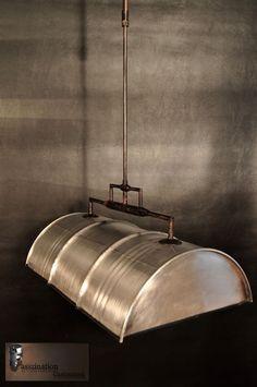 Pendant lamp hanging lamp hanging lamp made of 60 l barrel oil barrel .- Pendelleuchte Hängelampe Hängeleuchte aus 60 l Fass Ölfass Industrie poliert Pendant lamp hanging lamp hanging lamp made of 60 l barrel oil barrel industrial polished -