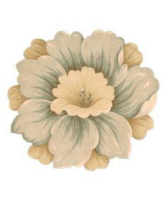 Look at this #zulilyfind! Gold Flower Bloom Wool Rug #zulilyfinds